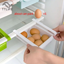 TTLIFE Kitchen Refrigerator Storage Box Food Container Fresh Spacer Layer Rack Pull-out Drawers Sort Organizer