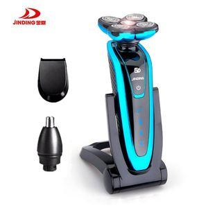 Image 2 - JINDING máquina de afeitar eléctrica recargable para todo el cuerpo, afeitadora con cabeza flotante 5D para hombre, Afeitadora eléctrica resistente al agua D40