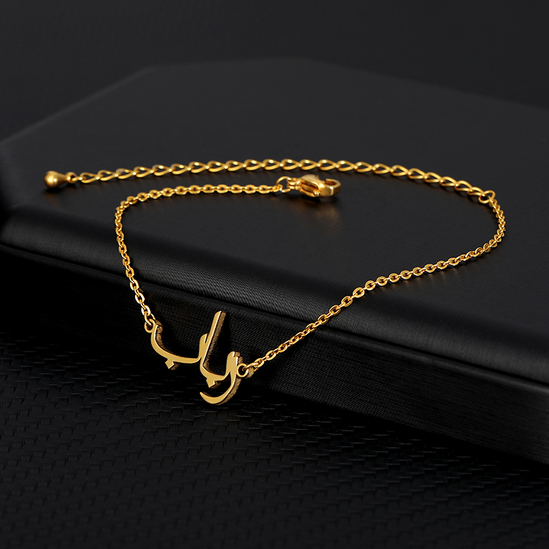 Personalized Arabic Custom Name Necklace Islamic Jewelry Golden Stainless Steel Jewelry Women's Necklace Christmas Gift BFF