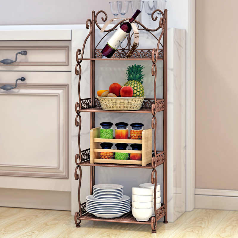 4 Layer Multifunction Metal Storage Rack Living Room Bathroom kitchen Organizer Storage Shelf for Clothes Shoes Food Storage
