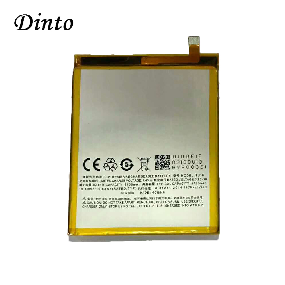 DINTO Battery MEIZU Smart-Phone-Parts 2760mah for U10 Rechargeable Li-Polymer Meiblue title=