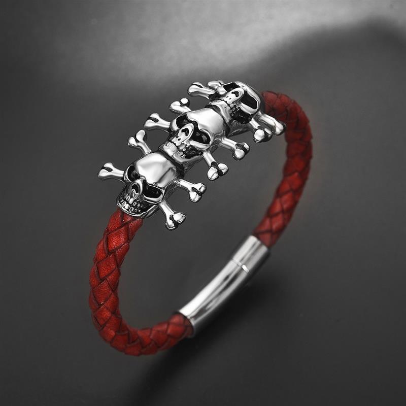Bracelet gothique crâne  2