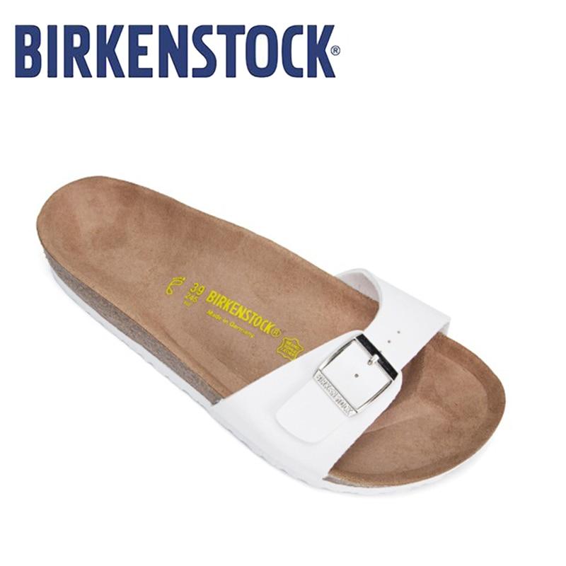 BIRKENSTOCK Women's Shoes 2019 Original Classic Madrid Birko-Flor Damen Pantoletten Unisex Shoes  Summer Birkenstock Sandals