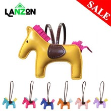 Buy Horse Tassels Keychain PU Leather Pony Charm Pendant for Women Bag Handbag Backpack Ornament Key Chain Auto Car Decoration Gift directly from merchant!