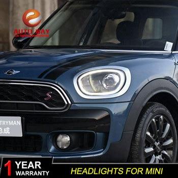Car Styling Case for BMW Mini Countryman headlights 2017-UP For MINI ALL LED head lamp Angel eye led DRL front light Bi-led