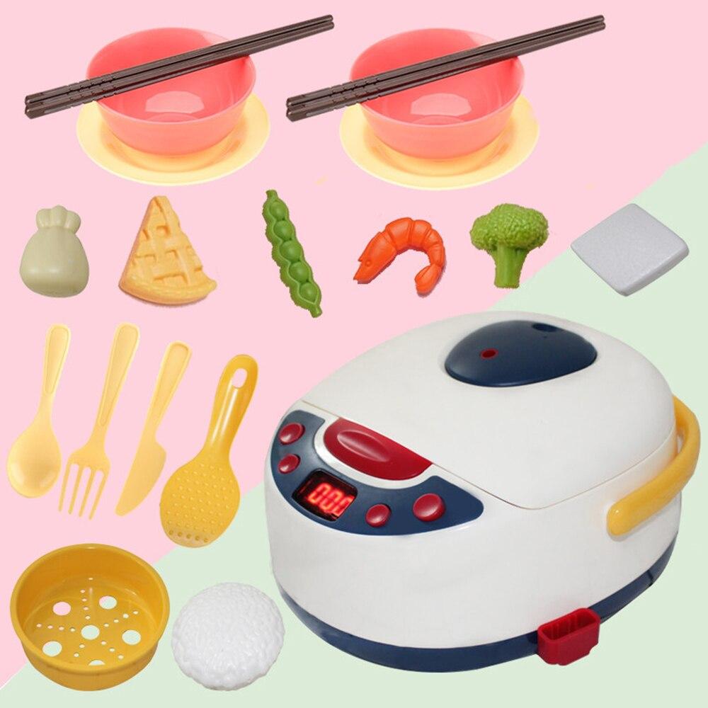 19 шт. кухонные ролевые игры, игрушки для приготовления пищи, моделирование бытовой техники для детей, рисоварка, детская развивающая игрушка