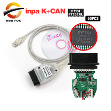 Super scanner Interface do INPA K + CAN para BMW INPA Ediabas K DCAN USB Interface de Diagnóstico para bmw 50 pçs/lote DHL frete grátis