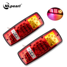 NLpearl-luz trasera LED resistente al agua para camión, remolque, ATV, caravana, luz de freno trasero, lámpara de marcha atrás, montaje de luz de coche, 2 uds.