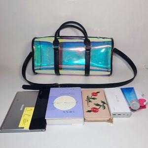 Image 5 - Moda torba podróżna kobiety duża pojemność przenośna torba na ramię pcv holograficzny Weekend bagaż Tote