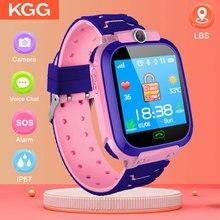 새로운 smartwatch 어린이 어린이 안전 모니터 시계 아기 손전등 스마트 시계 카메라 원격 sos 전화 smartwatch lbs vs dz09
