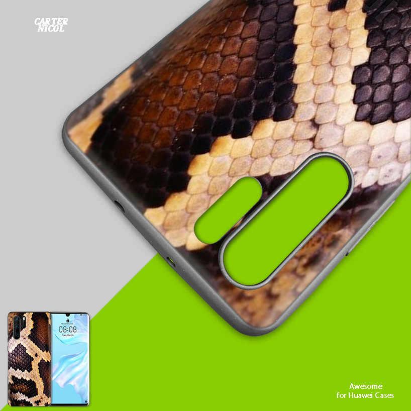 Силиконовый чехол для huawei mate 30 20 10 P30 P20 Nova 5 5i Lite Pro P Smart Z Plus 2019 задняя крышка розовая змеиная кожа рукоделие принт Dr