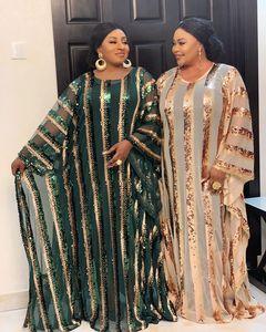 Image 3 - 2020 סופר גודל חדש אפריקאי נשים של פאייטים דאשיקי אופנה רופף רקמת ארוך שמלת אפריקאי שמלת לנשים אפריקאי בגדים