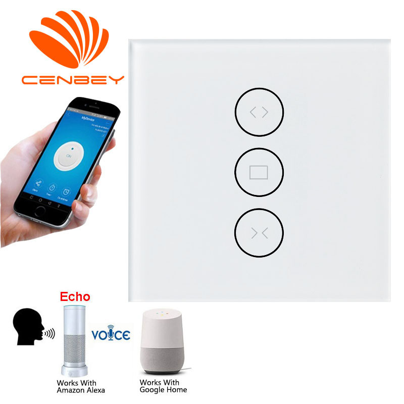 EU Curtain Switch Cortina Wifi Curtain Controller Wifi Shutter Switch <font><b>Casa</b></font> <font><b>Inteligente</b></font> <font><b>Google</b></font> <font><b>Home</b></font> Alexa Voice Control image