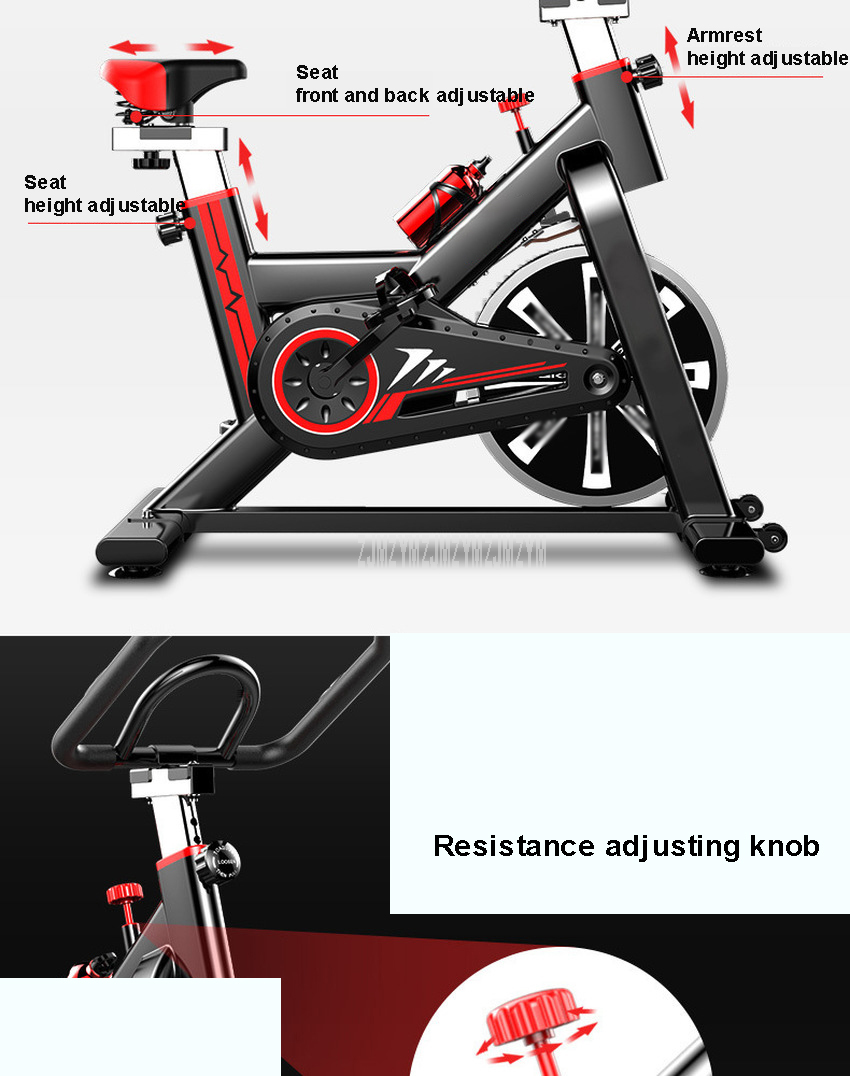 Household Indoor Bicycle For Home Fitness Exercise Cycling Bike Trainer Sport Equipment Pedal Bicycle Steel Frame Max Load 150kg