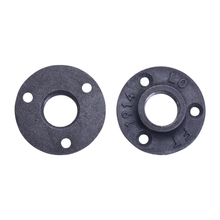"""10Pcs Black Decorative Malleable Iron Floor/Wall Flange Malleable Cast Iron Pipe Fittings 1/2"""" 3/4"""" BSP Threaded Hole"""