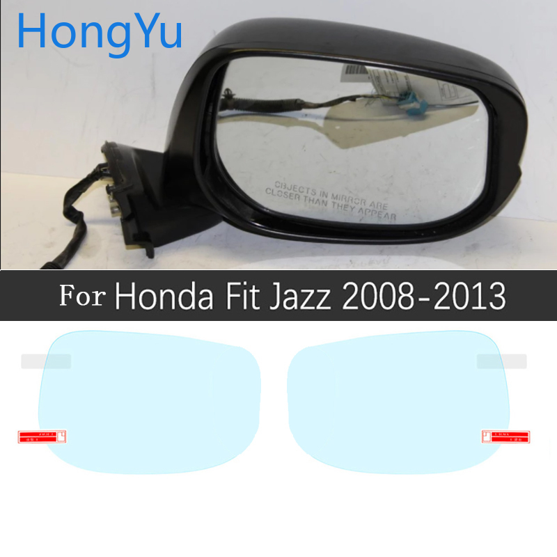 for Honda Fit <font><b>Jazz</b></font> 2008~2019 Full Cover Anti Fog Film Rearview Mirror Accessories Stickers Shuttle GE6 <font><b>GK5</b></font> 2009 2010 2014 2018 image