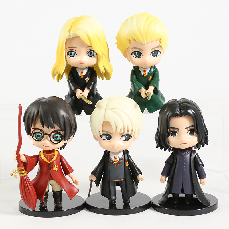 Q Posket – figurines Hermione Granger Ron Weasley Draco Malfoy Severus Snape en PVC, 5 pièces/ensemble