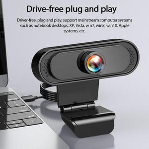 Веб-камера 1080P Full HD 30FPS широкоугольная веб-камера USB веб-камера с микрофоном для компьютера ПК конференц веб-камера