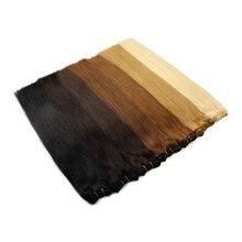"""שיער טבעי וויבס ישר מכונה רמי שיער צרור פלטינום בלונד נדל טבעי שיער שחור לתפור בערב 100g 12 """"16"""" 20 """"24"""""""