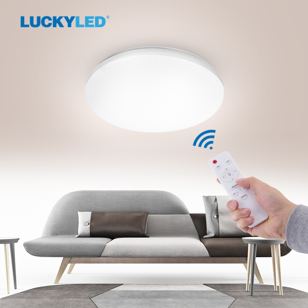 LUCKYLED Led Ceiling Light Dimmable Modern Ceiling Lamp 220V 110V Surface Mounted Light Fixtures for Kitchen With Remote Control