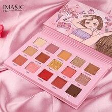 IMAGIC Metallic Matte Eyeshadow Palette Kit Pigment Waterproof Makeup Pallete Set Sombras Maquiagens Maquillaje Profesional