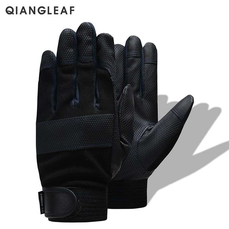 QIANGLEAF Brand Work Gloves Men's High Quality Leather Safety Work Protective Gloves 3052