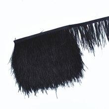 Black Ribbon Plumas Fringe-Trim Plume-Decoration Crafts Ostrich-Feathers-Trim-Width 1meters