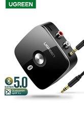 RCA ресивер Ugreen с поддержкой aptX LL, Bluetooth 5.0, разъем 3,5 мм, AUX, беспроводной музыкальный адаптер для ТВ, автомобильный аудиоресивер RCA Bluetooth 5.0, 3,5