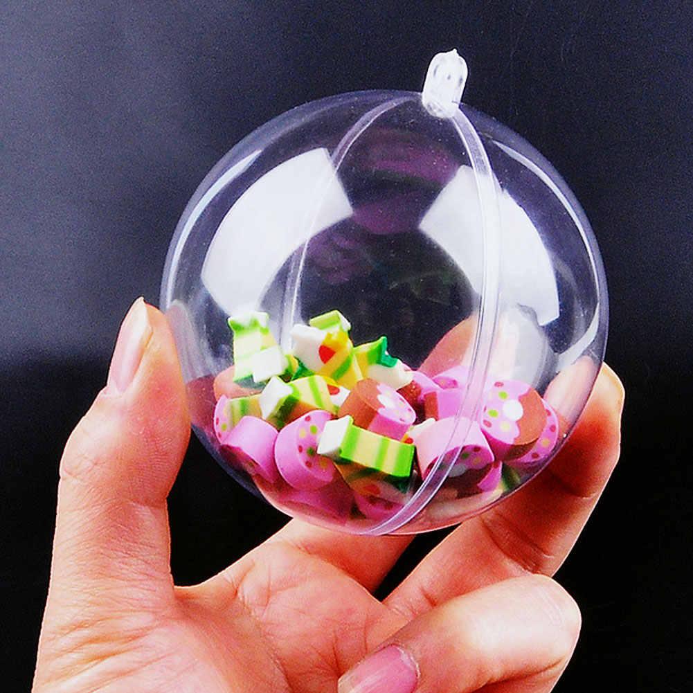 Kerstboom Ornamenten Doorzichtige Plastic Kerstballen Ballen Opknoping Hanger Kerstversiering Home Decor Navidad