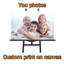 Пользовательские ваши фотографии на холсте пользовательские