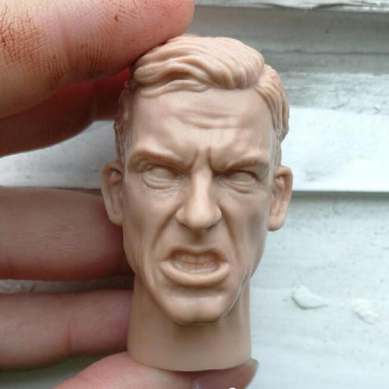 "1//6 Scale World War II Male expression Head Sculpt  For 12/""  Action"