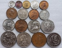 цена на Mexico 1951-1983 1 Cent-50 Pesos Full Set 17 Pieces Unc Real Original Coins Collection