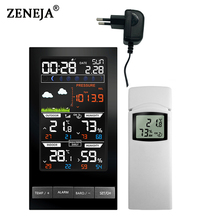 Wireless Weather Station 3 Channel Outdoor Digital Thermometer mmHg Barometer Hygrometer Weather Forecast Alarm Clock Dew Point