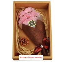 Мыло с цветочным ароматом искусственный цветок гвоздики в подарочной коробке лучший подарок на день матери подарок на день рождения матери