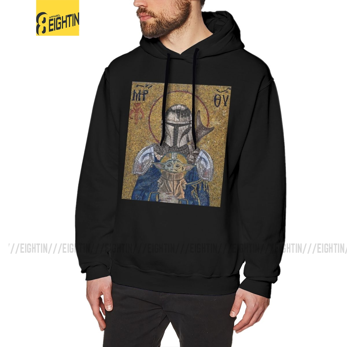 The Child Is My Religion Hoodies Man Funky Yoda Baby Star Wars Jedi Fett Hoodie The Mandalorian Cotton Hooded Sweatshirts