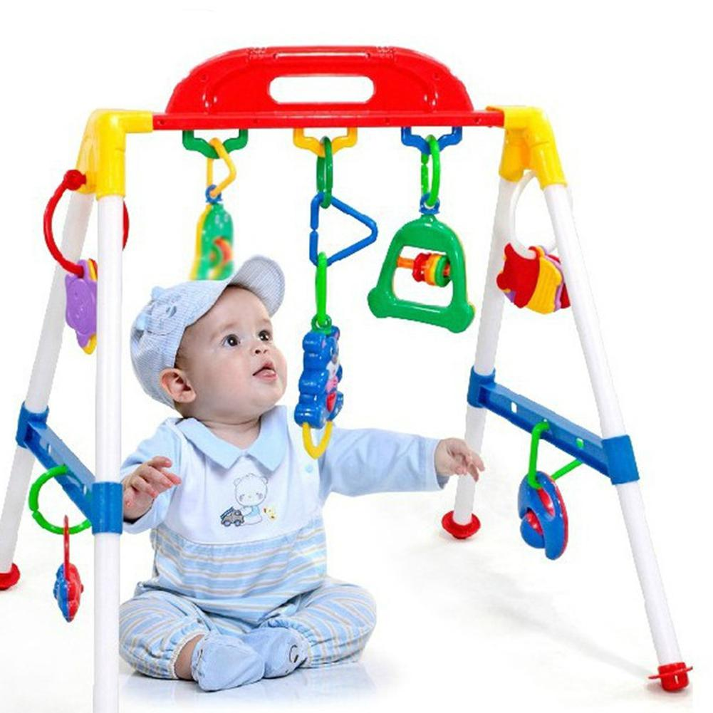 Yiwa Old Infant Baby Fitness Machine Toy For Intellectual Traning Including Pendants Ringing Bells