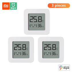 3pcs Xiaomi BT Thermometer 2 Wireless Smart Electric Digital Hygrometer Humidity Sensor Work with Mijia APP