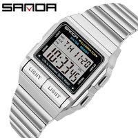Sanda Fashion Professional Sport Uhr Männer Frauen 50M Wasserdichte Militär Uhren Alarm Schock männer Retro Analog Quarz Digital