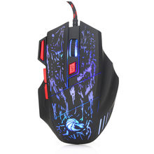 Ergonomic Wired Gaming Mouse 7 Button LED 5500 DPI USB Computer Mouse Gamer Mice Gaming Mouse With Backlight For PC Laptop(China)