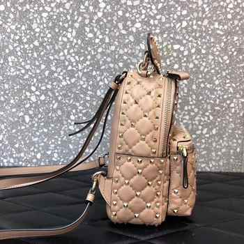Ladies Backpack, Sheepskin Ladies Backpack, Luxury Leather Mini Backpack, Laptop School Backpack, Ladies Studded Backpack 2020