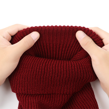 1PC Winter Knit Cap Warm Soft 2/3 Holes Full Face Ski Hat Balaclava Hood Motorcycle Helmet Army Tactical Hat Fashion Women Men