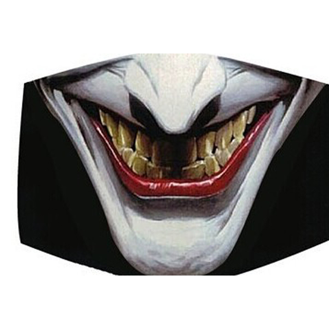 Funny Creative Vampire Smile Unisex Face Mask PM2.5 Flu Dust Shield Toothy Animal Monster Mouth Masks for Men Disposable Cover