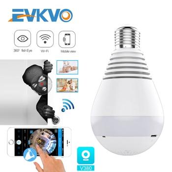 цена на 1080P 360° Security wifi Camera Lamp Panoramic Bulb IP CCTV Video Surveillance Fisheye HD Night Vision Audio IP Camera Wireless