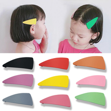 New Macarons Scrub Color Cream Triangle Hair Clips Japanese Geometry Side BB for Lovely Girls Accessories
