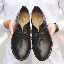 New Men Oxfords Lace-Up Leather Designer Business Office Casual Driving