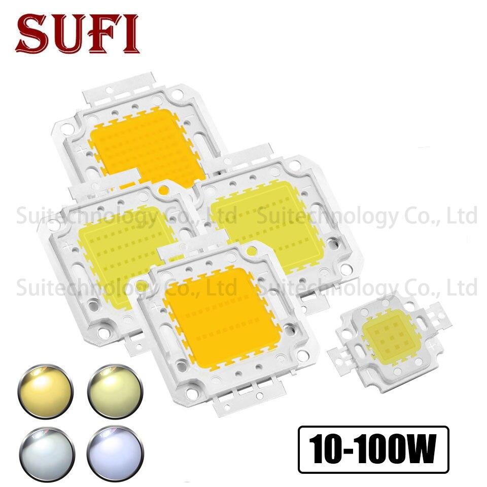 LED COB Chip 10W 20W 30W 50W 100W Warm White Pure White Light For DIY 10W 20W 30W 50W 100W High Power LED Flood Light Spotlight