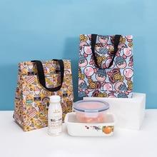 Handbag Tote-Book Lunch-Bags Japanese-Style MABULA Waterproof Reusable Children Cartoon