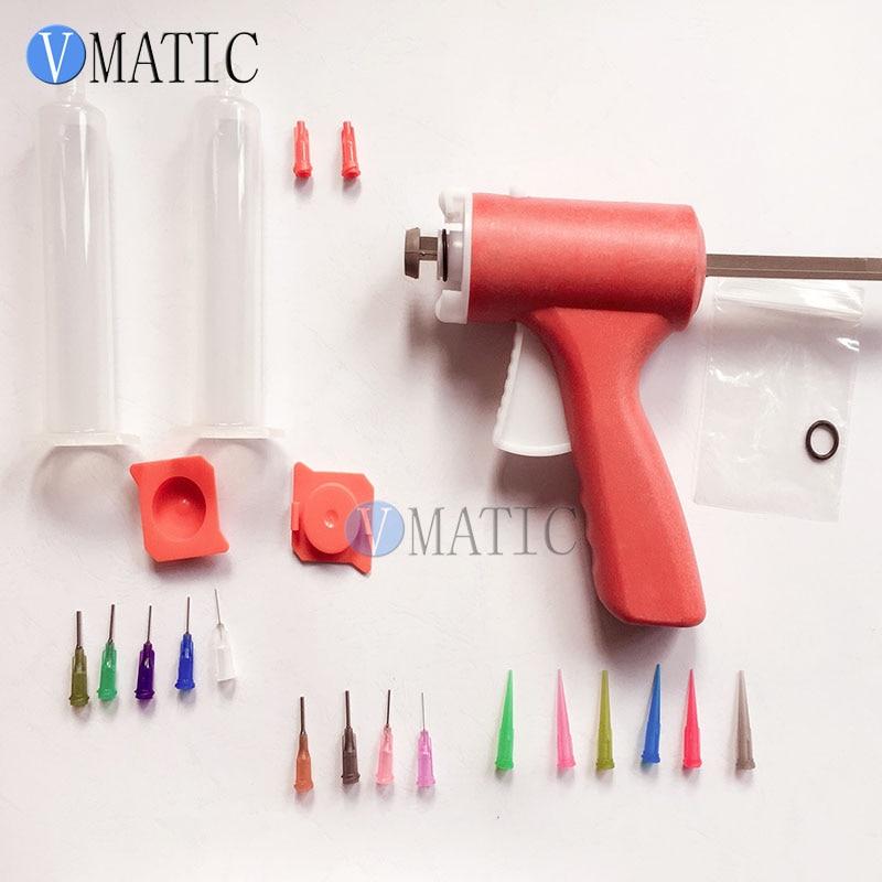 Купить с кэшбэком Free Shipping 30/55cc ml Manually Single Liquid Dispensing Glue Gun With Dispensing Needles Tips And Syringe