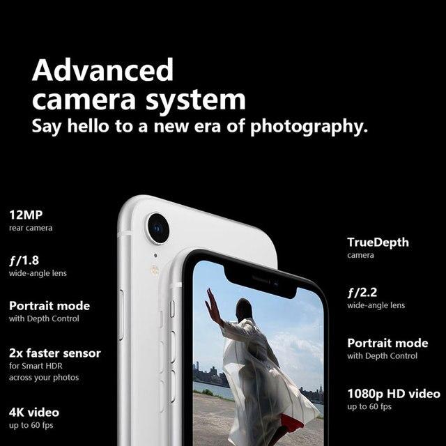 Original Unlocked Apple iPhone XR Mobile Phone 6.1inch LCD Display Hexa Core IOS Fingerprint Face ID NFC Apple Smartphone 4