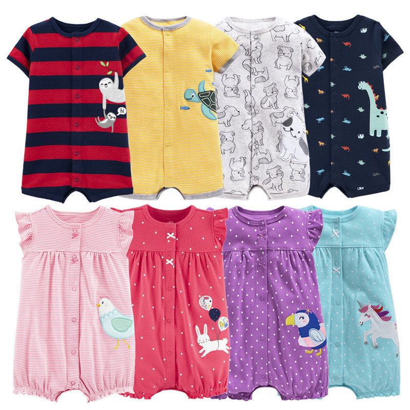 Clearance Sale Summer 2020 Baby Girl Clothes One Pieces Jumpsuit Baby Clothing ,cotton Short Romper Infant Girl Clothes  Roupas